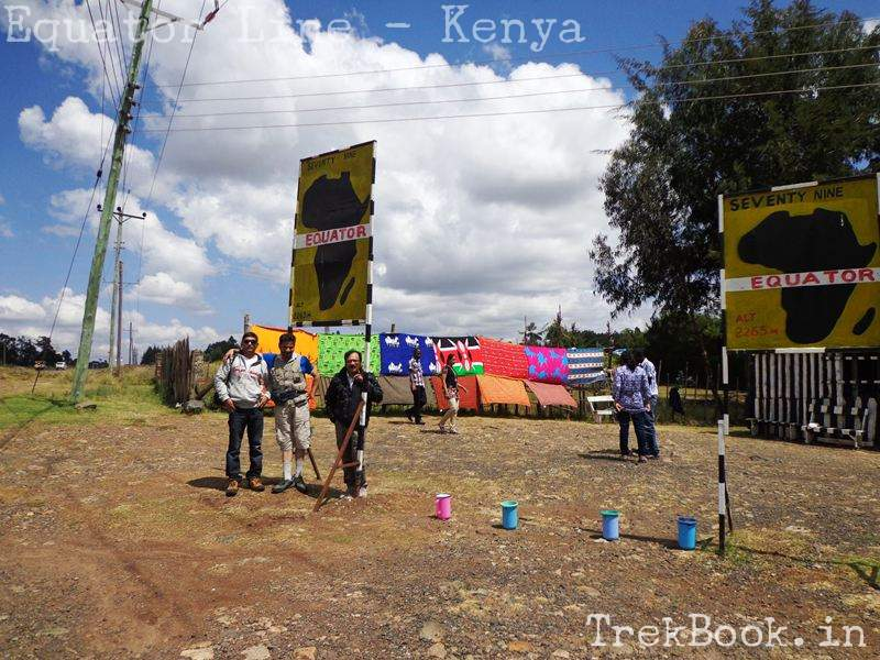 equator like marked with water jug in kenya