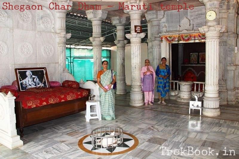 Shegaon char dham yatra - Maruti temple inside view