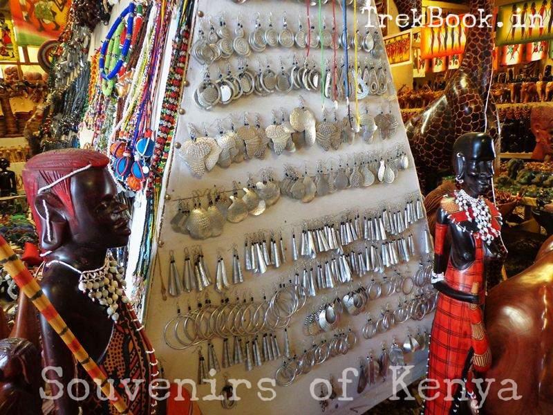 souvenir kenya girl ear rings aluminium