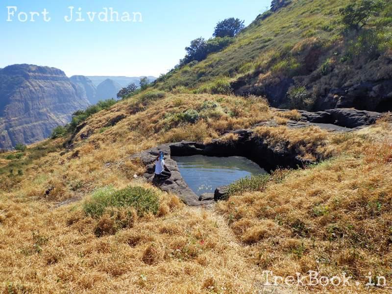 cistern at jivdhan fort top