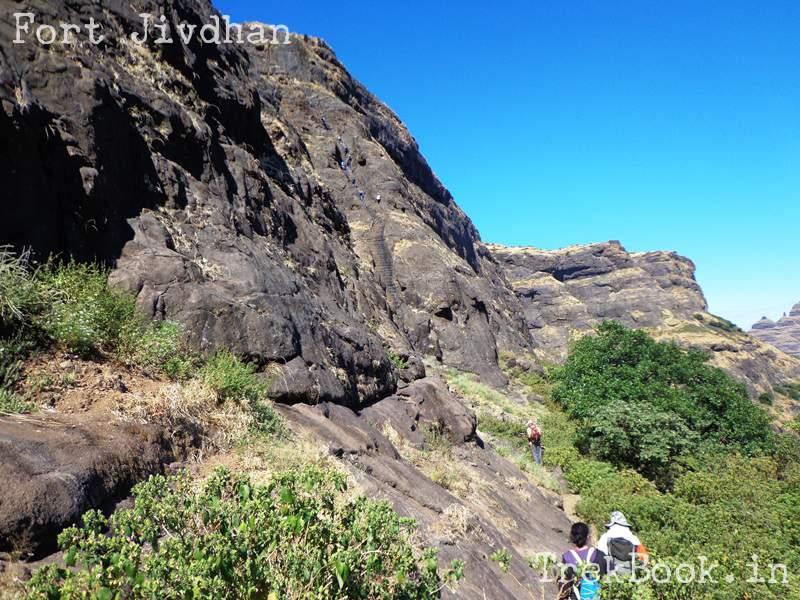 climbing high at fort jivdhan see the dots