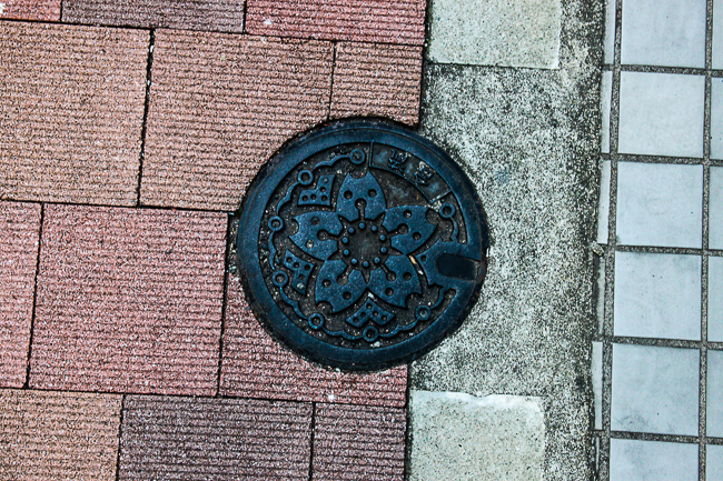 The first manhole I spotted on Tokyo showed this emblematic flower