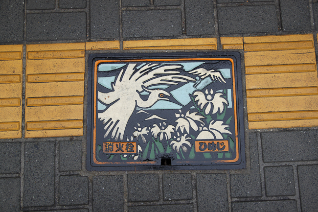 The White Herons of Himeji only got more colorful, like little pieces of artwork