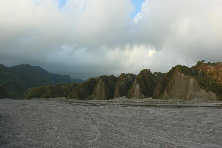 The desolate landscape along the route