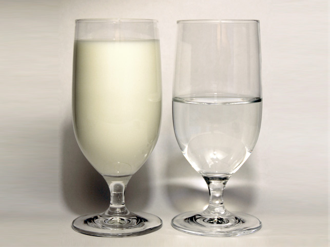 Milk and water