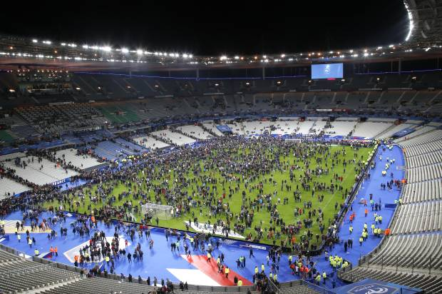 Stade de France after the attack Image Source: www.salon.com