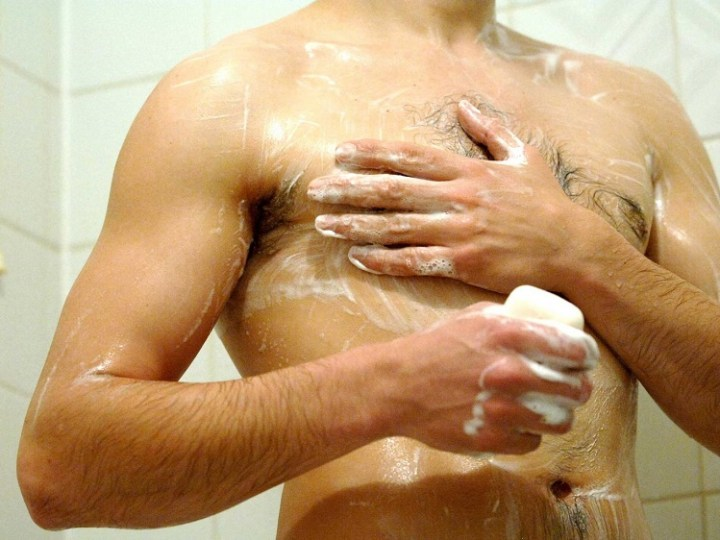 How do your eyes and ears get affected with the bacteria laden shower water?