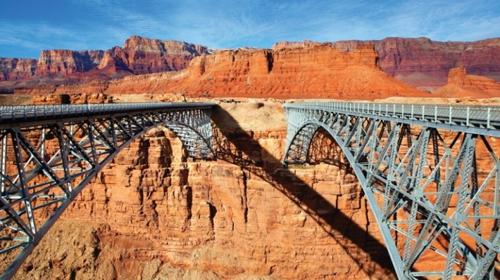 The route between Grand Canyon National Park and Williams
