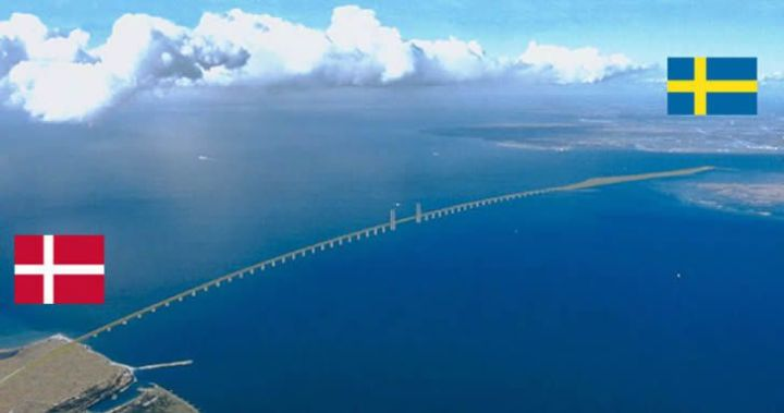 The bridge that connects Sweden and Denmark