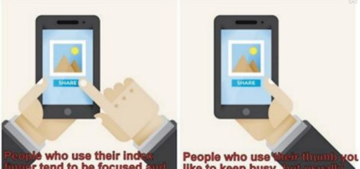 The finger you use to swipe your phone reveals a lot about you