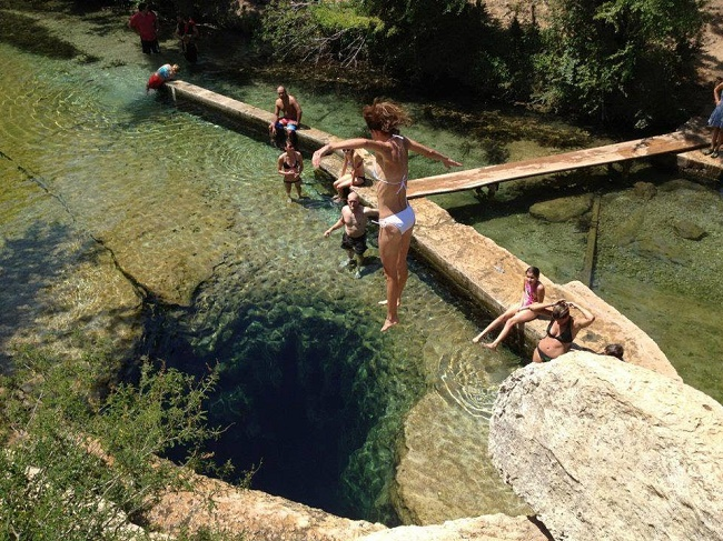 Girl dumping in jacobs well