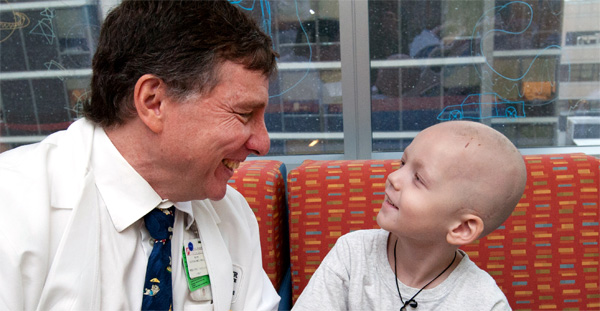 Brain Cancer patient with doctor