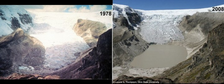 Decline of Central Peru glacier