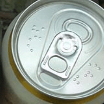 Drink cans for the blind