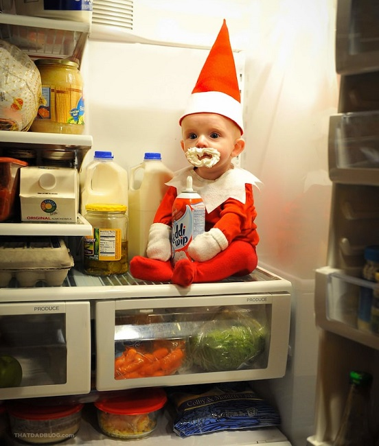 Elf on the Shelf cute baby pics