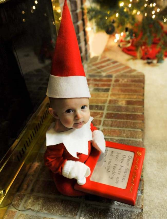 The Elf on the Shelf baby pics