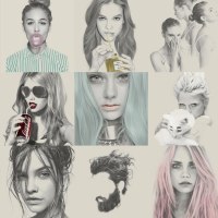 Kei Meguro Amazing Pencil Illustration Portraits