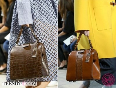 Brown Frame Bags by MK SS 2015