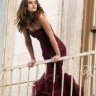 Платье модного цвета марсала 2015