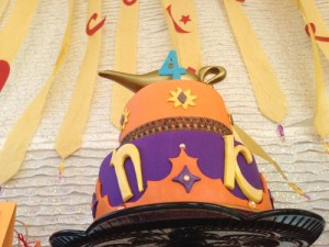 Arabian night kids birthday party cakes