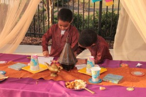 Arabian night kids birthday party card making