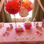 Spring butterfly baby birthday decoration