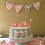 Pink and gray Elphant baby shower (19)