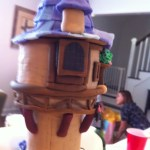 Rapunzel Tower made on fondant