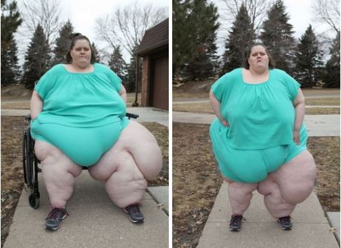 Photos: Meet The Fattest Woman In The World, Charity Pierce, Who Weighs347kg