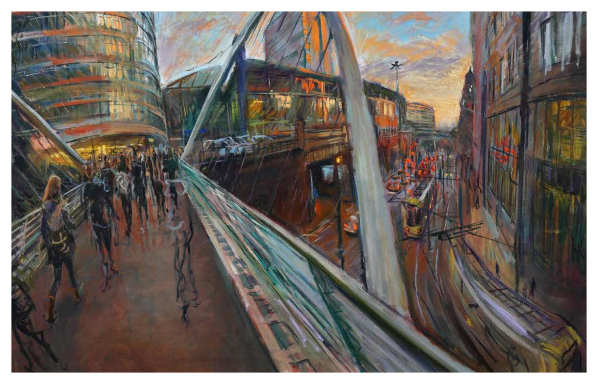Footbridge to Piccadilly, Rob Pointon