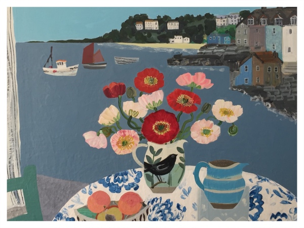 Mixed Poppies, St Ives by Emma Williams