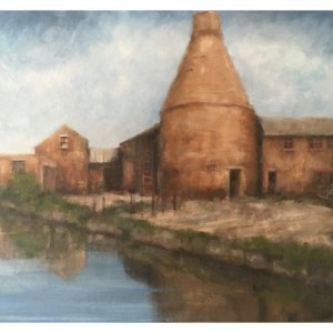 Brammeld, David ( ) – Canal Reflections, Bottle Oven Middleport