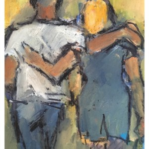 Howard, Ghislaine (1953 – ) Couple Arm in Arm