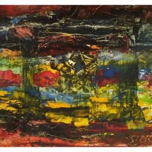 Simcock, Jack (1929-2012) Mini Abstract Colour