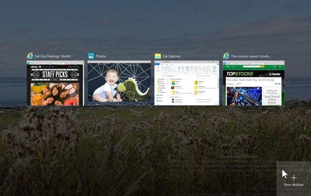 Windows 10 : Open Taskbar View