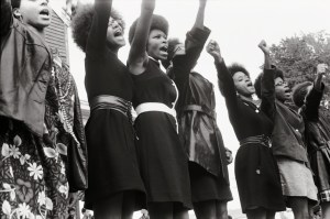 #3 Black Panthers from Sacramento, Free Huey Rally, Bobby Hutton Memorial Park in Oakland, CA, 1969. Photo courtesy of Pirkle Jones and Ruth-Marion Baruch