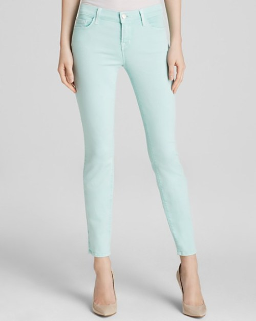sea green jeans