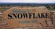 Snowflake Welcome Sign