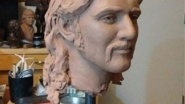 Photo courtesy of Dee Jay Bawdin  This mold shows the beginnings of a full-sized statue bearing a strong resemblance to rock legend Glenn Frey that will be added to the Standin' on the Corner Park in September.