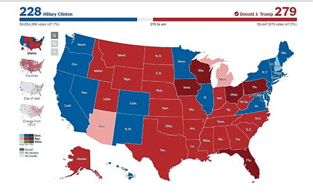 Us Map Of Electoral College - Electoral college us map