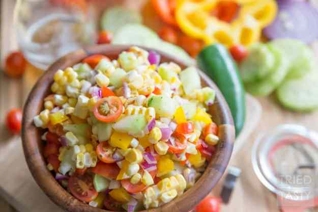 dilled crunchy sweet corn salad with buttermilk dressing sweet corn ...