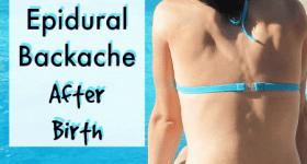 10 Natural Remedies for Epidural Postpartum Backache