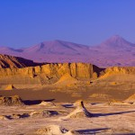The Atacama Desert in Chile.