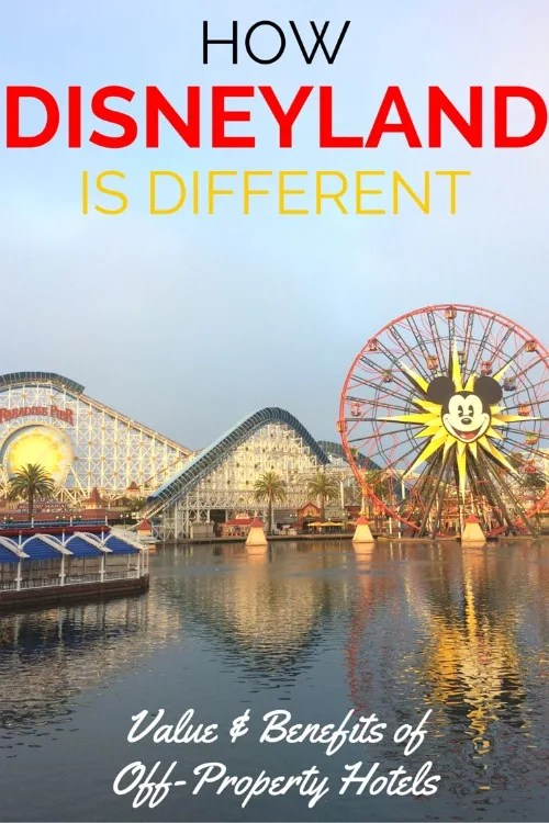Wondering whether to stay off-property or on-property on your Disneyland vacation? The decision is very different than the decision you might make at Walt Disney World. Compare the value and benefits in this detailed guide.