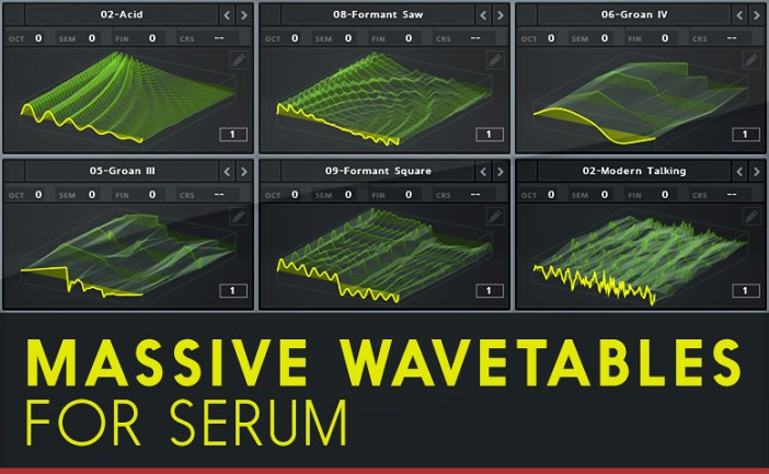Massive Wavetables for Serum