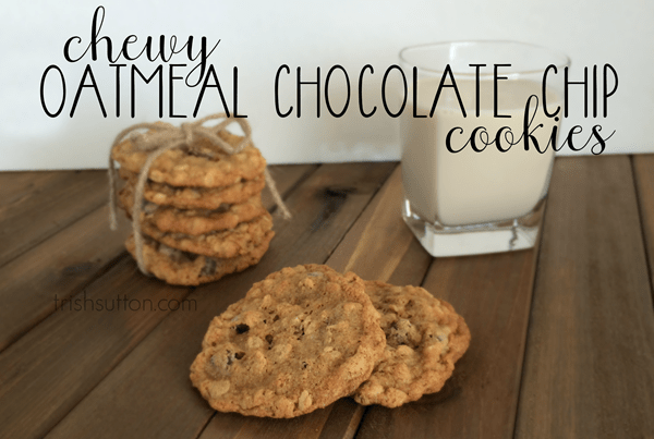 Chunky Chewy Whole Grain Toffee Chocolate Chip Oatmeal Cookies Recipe ...