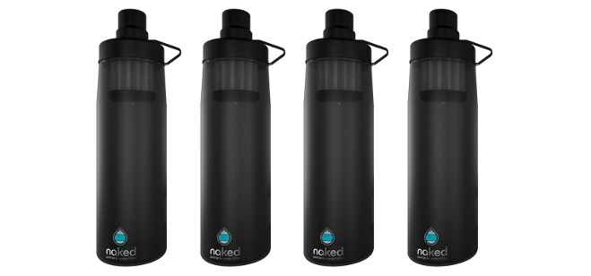 "Crowdfunding Spotlight: Groundbreaking ""Naked Filter"" Water Bottle Now Available for Pre-Orders on Kickstarter"