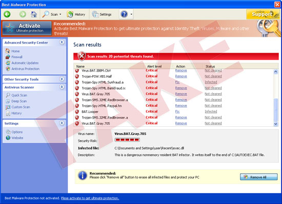 Best Malware Protection virus