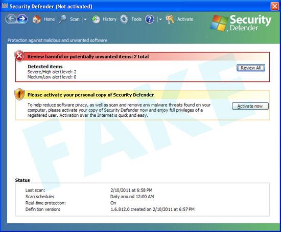 Security Defender virus