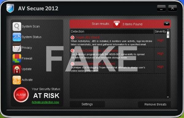 AV Secure 2012 virus
